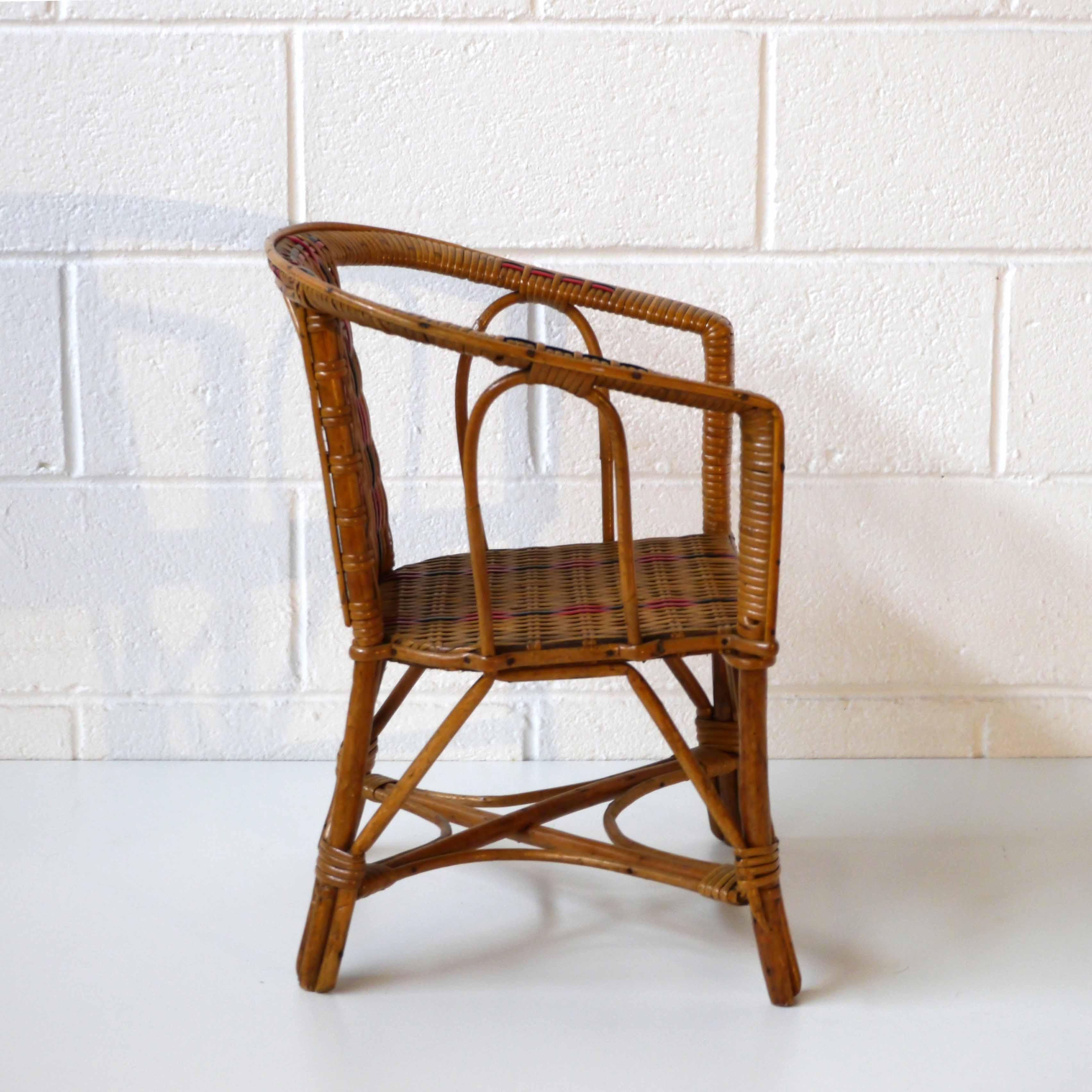fauteuil enfant osier la marelle mobilier vintage pour enfants. Black Bedroom Furniture Sets. Home Design Ideas